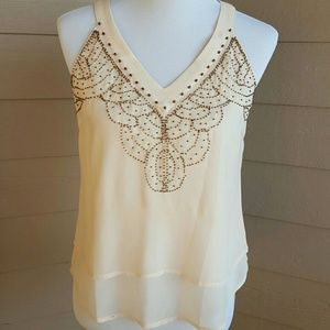 Skies are Blue Tops - SKIES ARE BLUE sleeveless embellished top. NWT