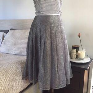 Kay Unger Dresses & Skirts - Metallic Pleated Skirt