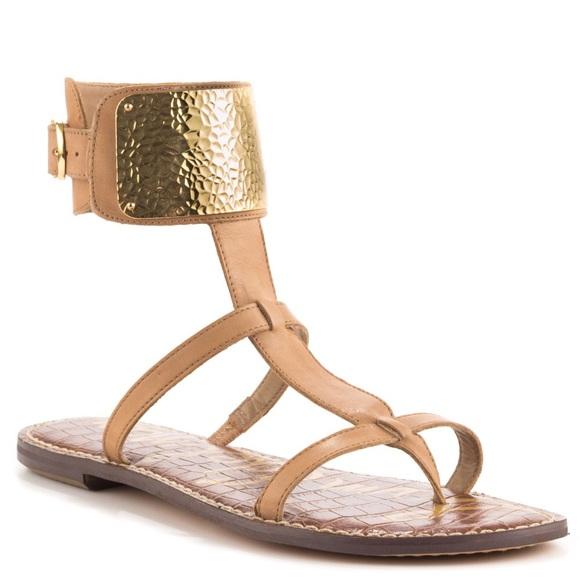 39d7725565304 Sam Edelman Gold Cuff Genette Gladiator Sandals