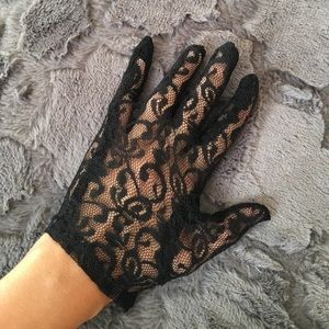 Accessories - Black Costume Lace Gloves