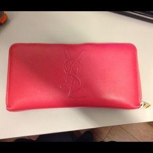 YSL large zip around wallet