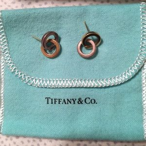 Tiffany's 18k gold and Sterling Silver Earrings