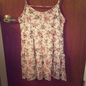 Deb Floral Trapeze Babydoll Dress, Open Back, S