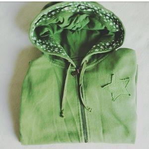 Arizona Jean Company Tops - ARIZONA Jean Co Stars Green Full Zip Hoodie