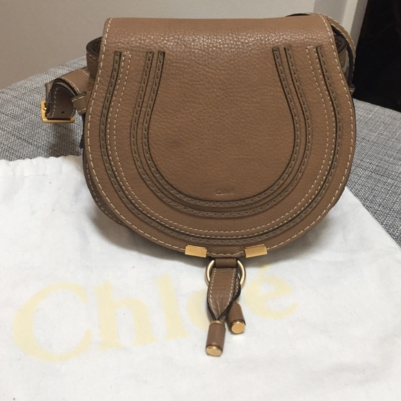 92a8e3266bbc8 Chloe Bags   Authentic Marcie Small In Nut With Dust Bag   Poshmark
