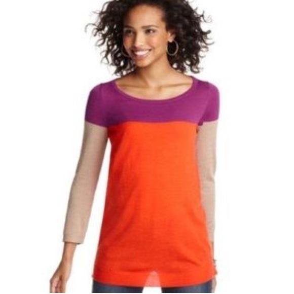 73% off LOFT Sweaters - Sale LOFT Colorblock Stripe Tunic ...
