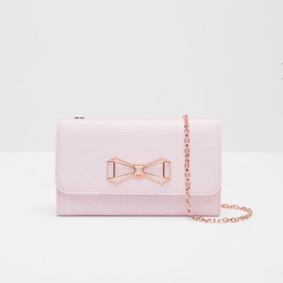 e9f9d4a8a Ted Baker Pink Bow Bag with Rose Gold Chain