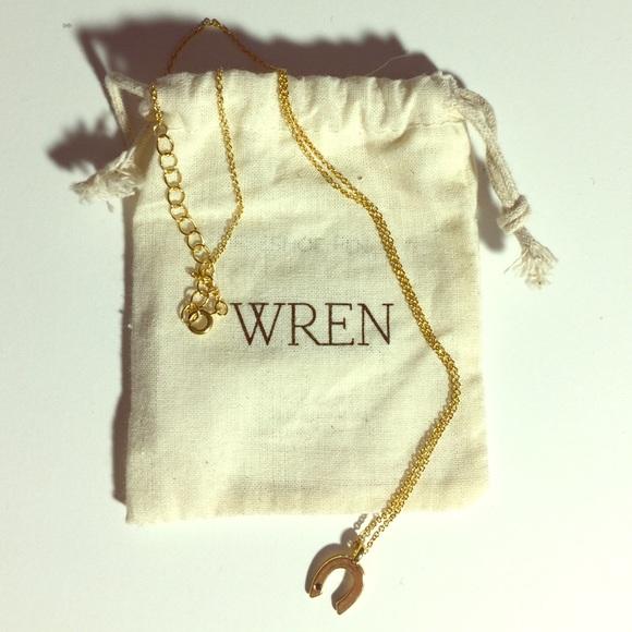 65 wren jewelry wren 24k gold horseshoe necklace