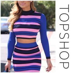 Topshop Tops - TOPSHOP Long Sleeve Striped Top