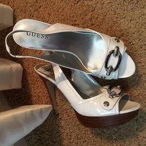 Guess Shoes - White Guess heels