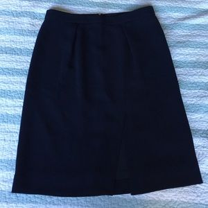 J. Crew Dresses & Skirts - J. Crew navy blue skirt with slit