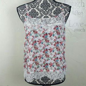 Ambiance Apparel Tops - AMBIANCE APPAREL Floral Lace Top