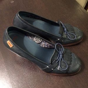 Camper Shoes - Camper teal moccasin (2.5 in heal) size 40 (9/10)