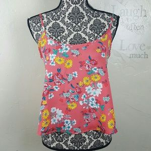 Ambiance Apparel Tops - AMBIANCE APPAREL Pink Floral Top