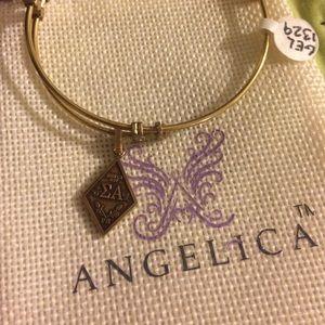 Alex & ani style sorority bracelet - sigma alpha
