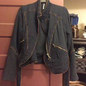 Free People Jackets & Blazers - Navy blue FP jacket