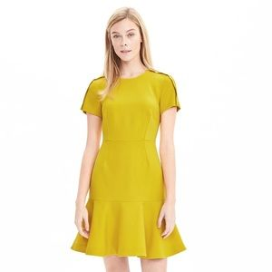 Banana Republic Short Sleeve Flounce Dress