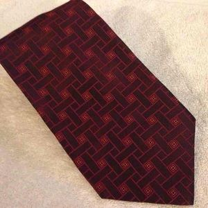 Carrot & Gibbs NEW Red Pattern Silk Tie