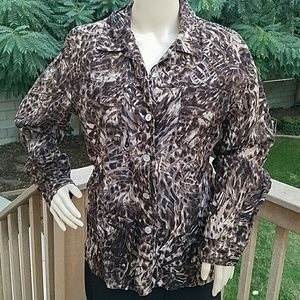 Chico's Tops - Stunning Chico's Brown Blouse - Chico's size 2
