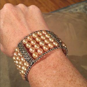 Honora Jewelry - Sale! Honora Cultured Pearl Bold Cuff NWT
