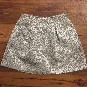Behnaz Sarafpour Dresses & Skirts - Behnaz Sarafpour silver leaf skirt size 3