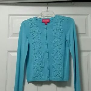 Lilly Pulitzer NWT Blue Sweater Embroidered