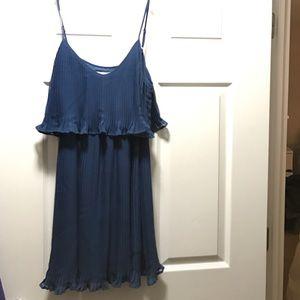 Spaghetti strap blue dress