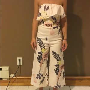 NEW ASOS Floral wide leg jumpsuit.