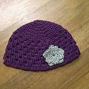 Other - Handmade 3-6 Month Purple Hat