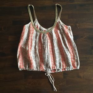 Free People Embroidered & beaded tank