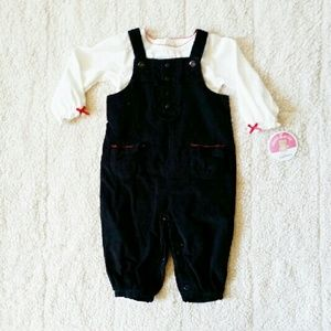 Carter's Other - NWT! 2 pc Carters corduroy overalls set 6-9 mo