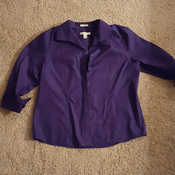 72 off chico 39 s tops beautiful nwot purple chico 39 s no for Chicos no iron shirts
