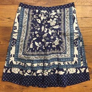 LOFT Dresses & Skirts - LOFT blue and white skirt size 4