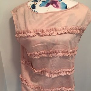 Talbots ruffled blouse