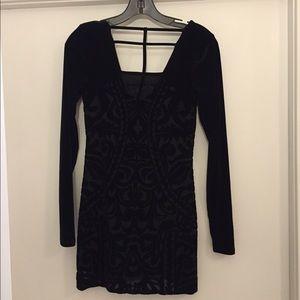 Free People black mini dress size XS