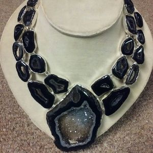 *Make an OFFER* real Druzy statement necklace