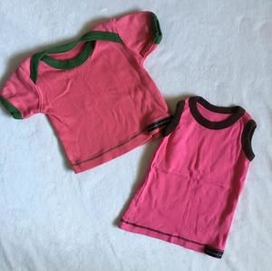 Other - 100% cotton pink shirt and tank top