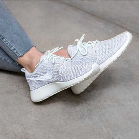 hot sale online 53f7d 8332a Nike Shoes | Womens Roshe One Flyknit Sail White Sneakers | Poshmark