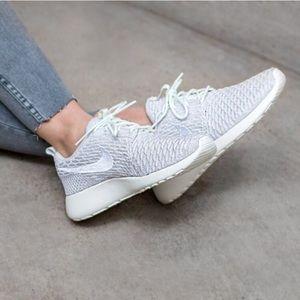 reputable site fa14b 5aacd Nike Shoes - Women s Nike Roshe One Flyknit Sail White Sneakers