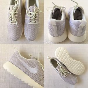 reputable site d71e3 270c1 Nike Shoes - Women s Nike Roshe One Flyknit Sail White Sneakers