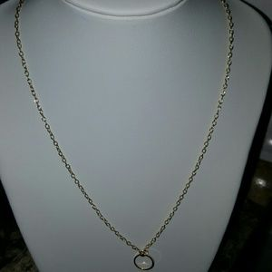 Circle gold chain round  necklace ring