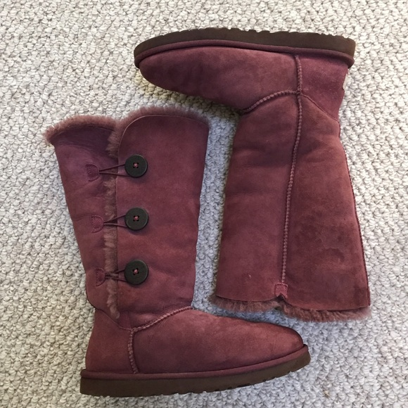 8396738ffb6 Purple Wine Bailey Button Uggs Size 9
