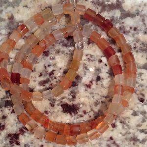 Jewelry - Carnelian, garnet, and crystal Quartz necklace!