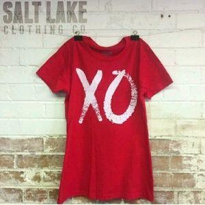 """Salt Lake Clothing Tops - Women's """"XO"""" round neck tee XXL"""