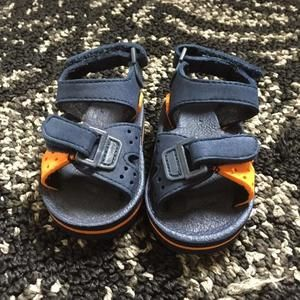 Other - Navy blue and orange sandals