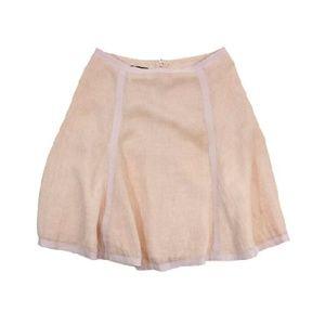 Emporio Armani- Peach Linen Skirt Sz 6