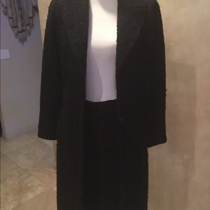 Zara Jackets & Blazers - Black boucle knee length blazer& matching skirt