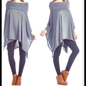 FashionBohoLoco Tops - Starfall Draping Foldover Poncho Kimono NWT