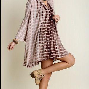 Fashion Boho Loco Dresses & Skirts - Mocha Print Trapeze Swing Tunic Slip Dress NWT
