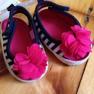Other - Striped open toe shoes